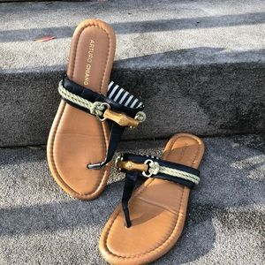 Arturo Chiang Nautical Sandals 8.5